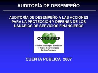 CUENTA P BLICA  2007