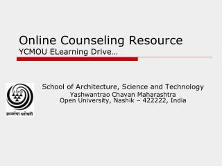 Online Counseling Resource YCMOU ELearning Drive