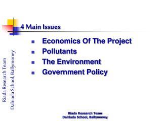 4 Main Issues