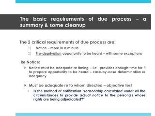 The basic requirements of due process   a summary  some cleanup
