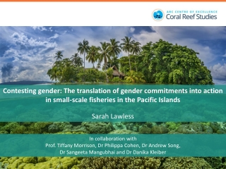 Gender Issues in the Small Scale Fisheries in the Pacific region