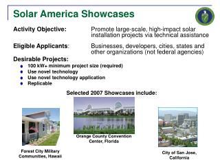 Solar America Showcases