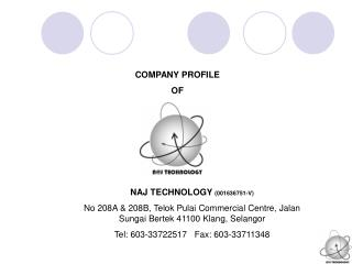 COMPANY PROFILE OF