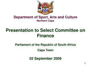 Department of Sport, Arts and Culture Northern Cape