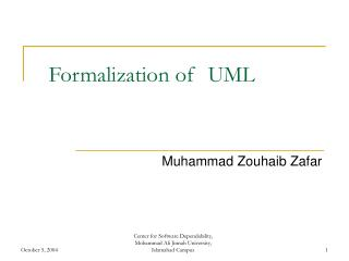 Formalization of  UML