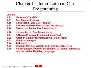 Chapter 1   Introduction to C Programming