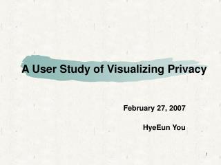 A User Study of Visualizing Privacy