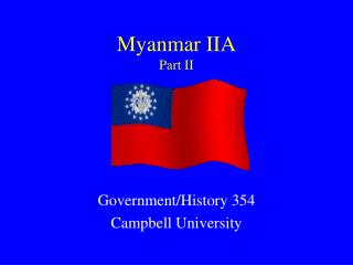 Myanmar IIA Part II
