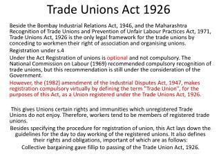 Trade Unions Act 1926
