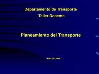 Departamento de Transporte