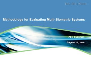 Methodology for Evaluating Multi-Biometric Systems