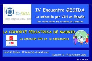 Jos  M  Bell n,  M  Isabel de Jos  G mez                                                Alicante 15 -17 Noviembre 2006