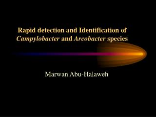 Rapid detection and Identification of Campylobacter and Arcobacter species