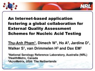 An Internet-based application fostering a global collaboration for External Quality Assessment Schemes for Nucleic Acid