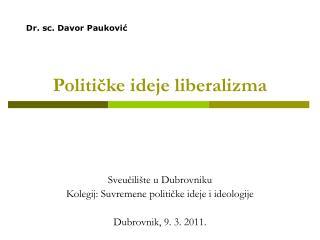 Politicke ideje liberalizma