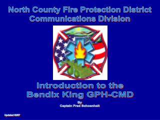 North County Fire Protection District Communications Division