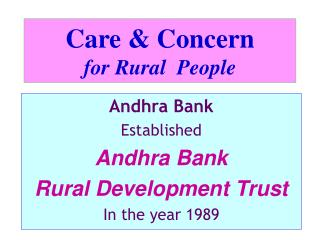 Care  Concern  for Rural  People