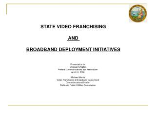 Presentation to: Chicago Chapter Federal Communications Bar Association April 18, 2008  Michael Morris Video Franchising