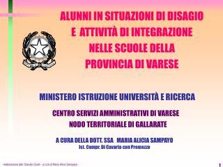- elaborazione dati: Claudio Giusti - a cura di Maria Alicia Sampayo -
