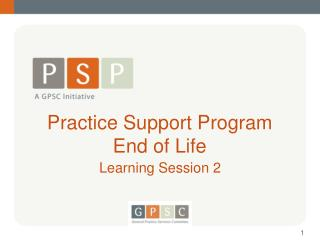 Practice Support Program End of Life