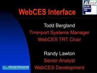 WebCES Interface