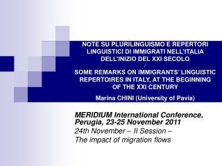 NOTE SU PLURILINGUISMO E REPERTORI LINGUISTICI DI IMMIGRATI NELL ITALIA DELL INIZIO DEL XXI SECOLO