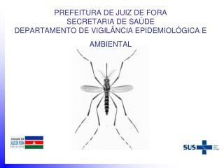 PREFEITURA DE JUIZ DE FORA SECRETARIA DE SA DE DEPARTAMENTO DE VIGIL NCIA EPIDEMIOL GICA E AMBIENTAL
