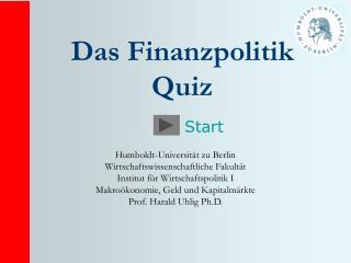 Das Finanzpolitik Quiz