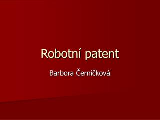 Robotn  patent
