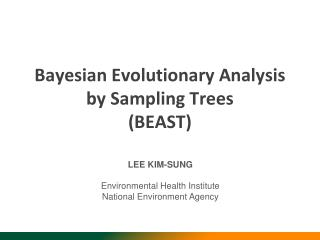 Bayesian Evolutionary Analysis by Sampling Trees BEAST