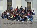 Exchange Poland-Italy 2012