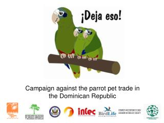 Campaign against the parrot pet trade in the Dominican Republic