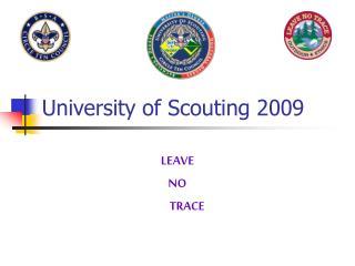 University of Scouting 2009