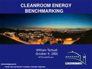 Energy Benchmarks