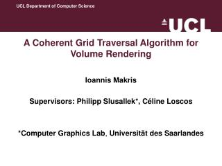 A Coherent Grid Traversal Algorithm for Volume Rendering