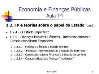 Economia e Finan as P blicas Aula T4