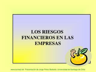 Eumed  Presentaci n de Jorge P rez Barbeito. Universidad de Santiago de Chile