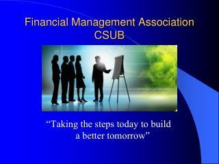 Financial Management Association CSUB