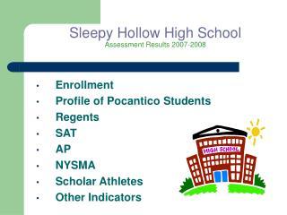 Sleepy Hollow High School Assessment Results 2007-2008