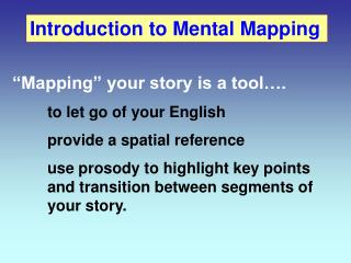Introduction to Mental Mapping