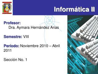 Inform tica II