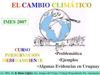 EL CAMBIO CLIM TICO