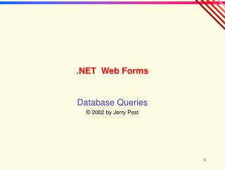 .NET  Web Forms