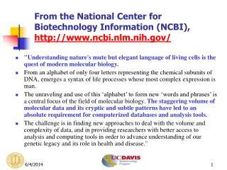 From the National Center for Biotechnology Information NCBI, ncbi.nlm.nih