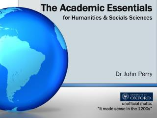The Academic Essentials for Humanities  Socials Sciences