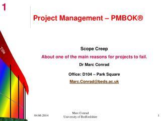 Project Management   PMBOK