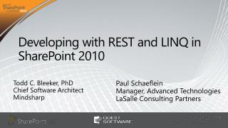 Developing with REST and LINQ in SharePoint 2010