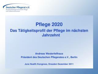 Pflege 2020 Das T tigkeitsprofil der Pflege im n chsten Jahrzehnt   Andreas Westerfellhaus Pr sident des Deutschen Pfleg