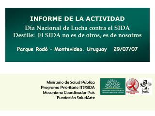 Ministerio de Salud P blica Programa Prioritario ITS