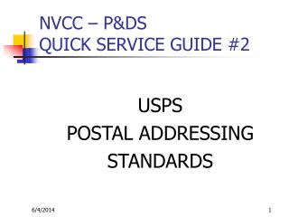 NVCC   PDS QUICK SERVICE GUIDE 2